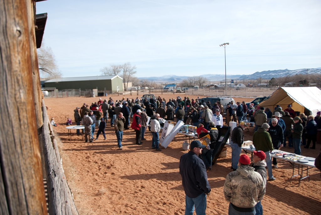 Crowd shot during the closing ceremonies of the 2012 Burbot Bash