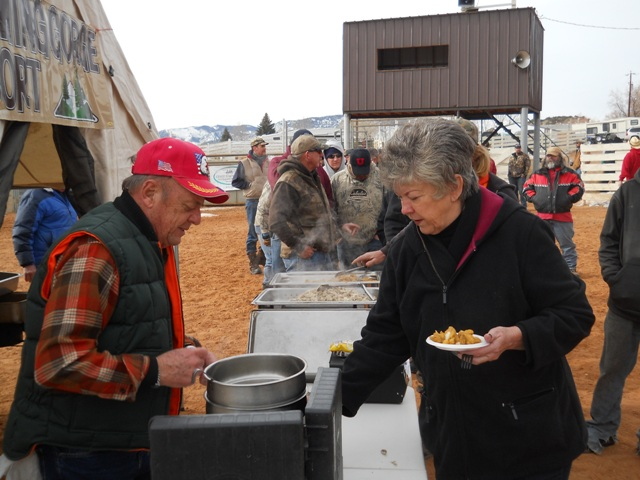 Photo of Burbot samples being given out during the 2013 Burbot Bash Closing Ceremonies.