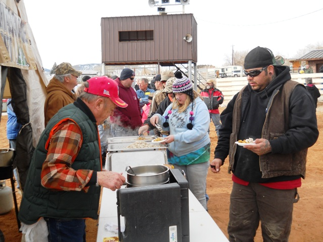 Photo of participants enjoying Burbot prepared by the Flaming Gorge Resort during the 2013 Burbot Bash