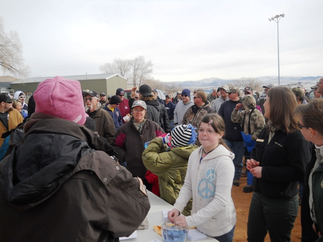 Photo of the crowd during the prize giveaway of the 2013 Burbot Bash.