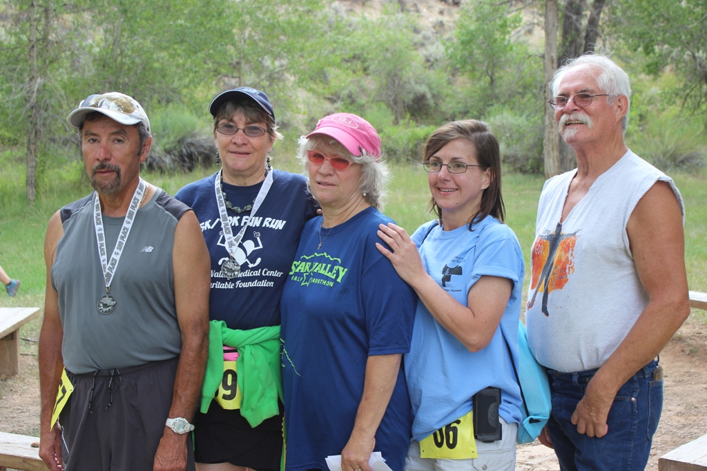 Photo of runners and friends at the 2013 Tower Rock Run