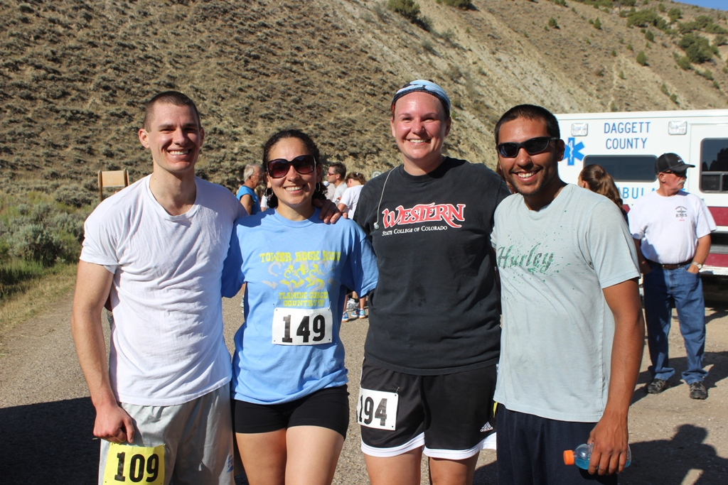 Runners from different states enjoyed getting together again for the Tower Rock Run