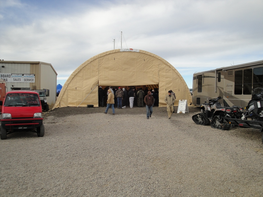 The Opening Ceremonies for the 2011 Burbot Bash were held at the Buckboard Marina