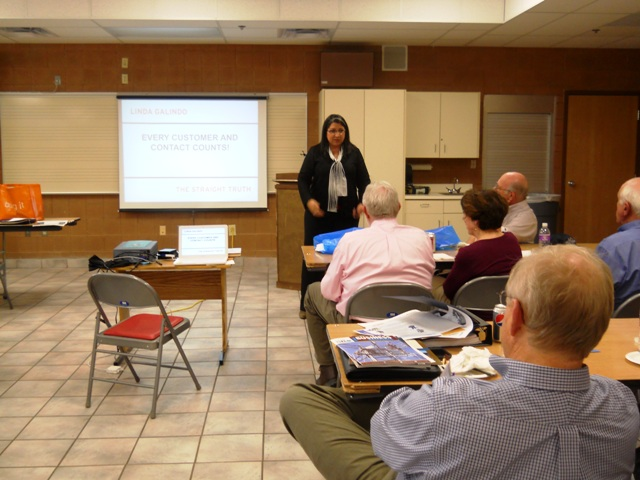 "Linda Galindo shares her Presentation ""Every Contact Counts at the 2012 Flaming Gorge Business Conference"