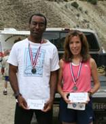 Wayne and Brenda -Top Male and Top Female Runners in the Tower Rock Run 2006