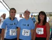 Trio of winners in the 2006 Tower Rock Run 10K