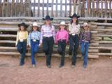 Rodeo Princesses of the Cow Country Rodeo 2006 in Manila, Utah near the Flaming Gorge