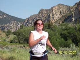 All smiles during the @007 Tower Rock Run near Flaming Gorge Utah