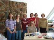Some of the participants of the 2008 Flaming Gorge Quilt Retreat take time to pose for the camera!