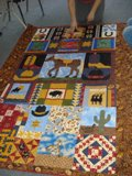 Western Flare Quilt created at the 2008 Flaming Gorge Quilt Retreat