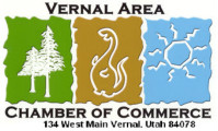 Logo for the Vernal, Utah Chamber of Commerce