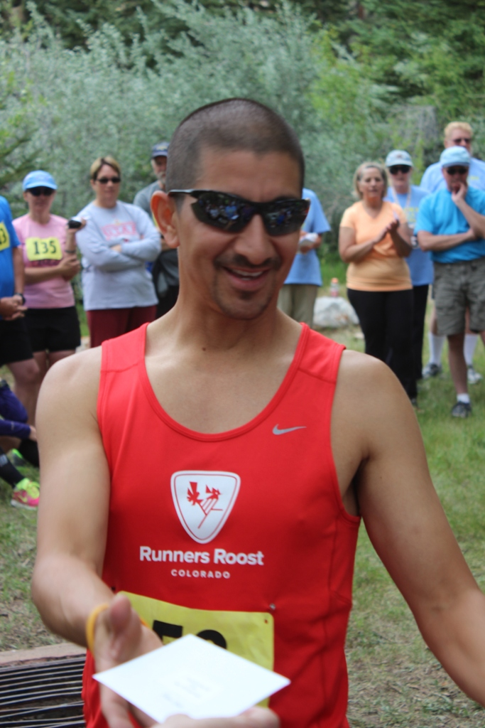 Photo of 10K age group winner for 2013 Tower Rock Run