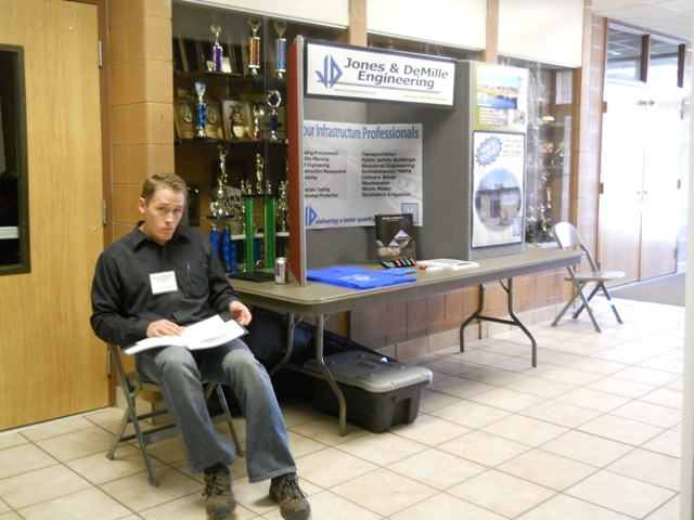 Photo of Platinum Sponsor Jones & Demille Engineering's Information Table